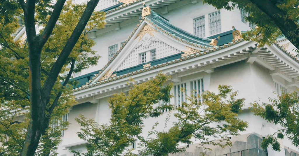 大阪城天守閣の破風