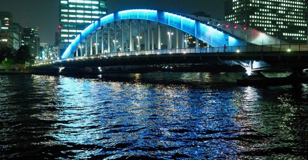 永代橋のライトアップ