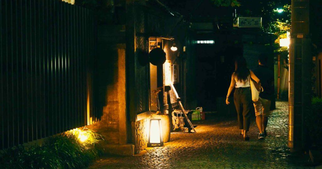 神楽坂の男と女