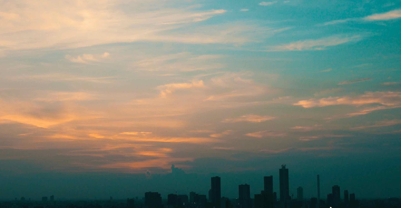 文京シビックセンターからの夕焼け