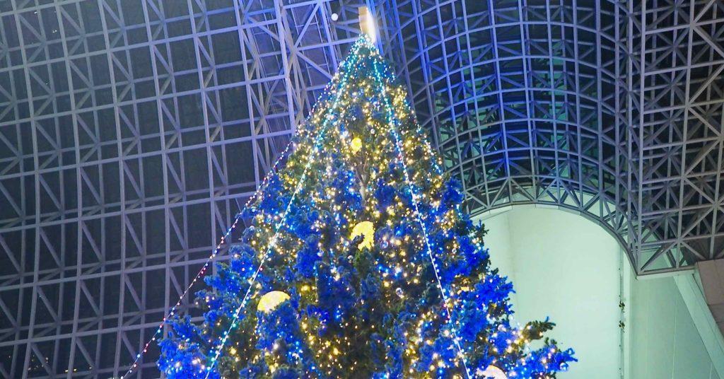 京都駅の巨大クリスマスツリー