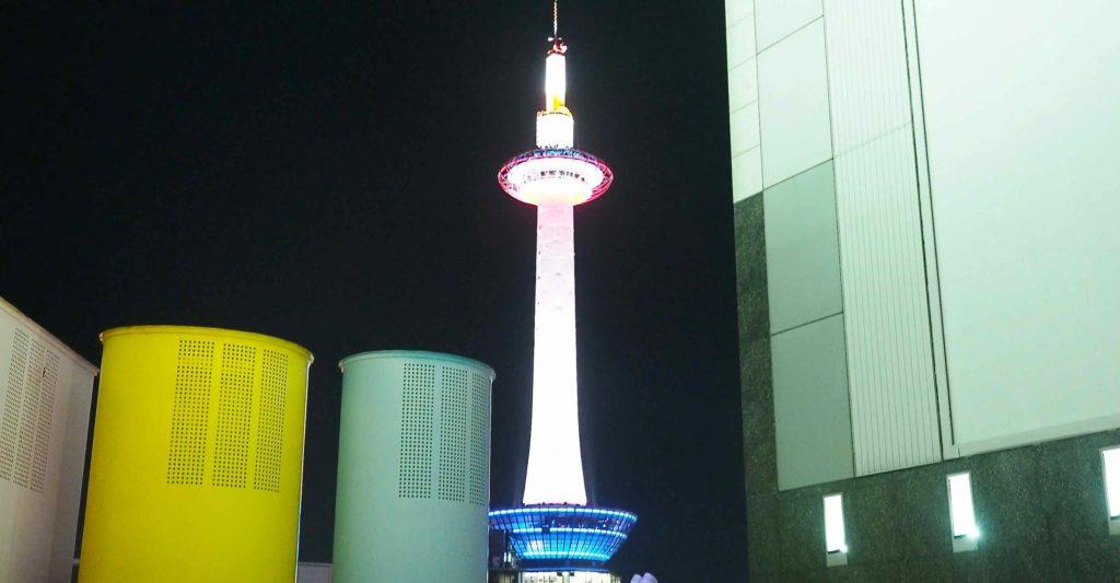 京都タワーのイルミネーション