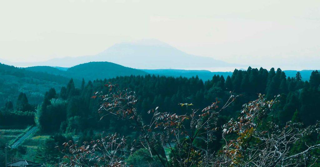 霧島神宮 展望所からの眺め