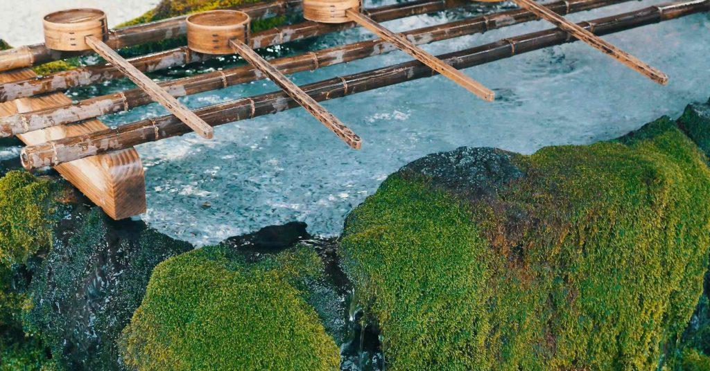 霧島神宮の手水舎が美しい