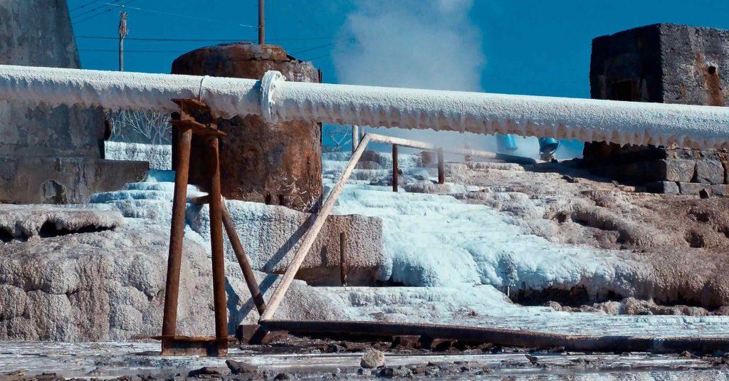 山川製塩工場跡のレトロ感