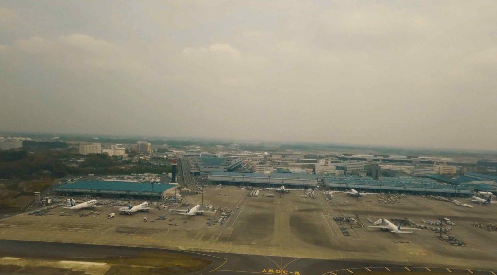 成田上空へ