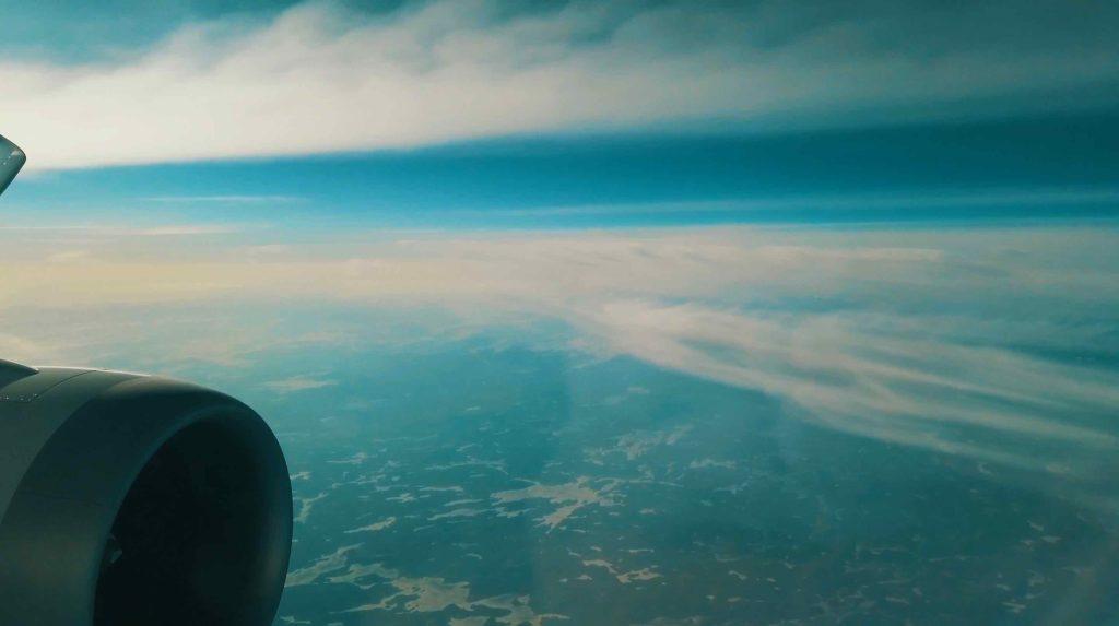 ヘルシンキ上空からの眺め