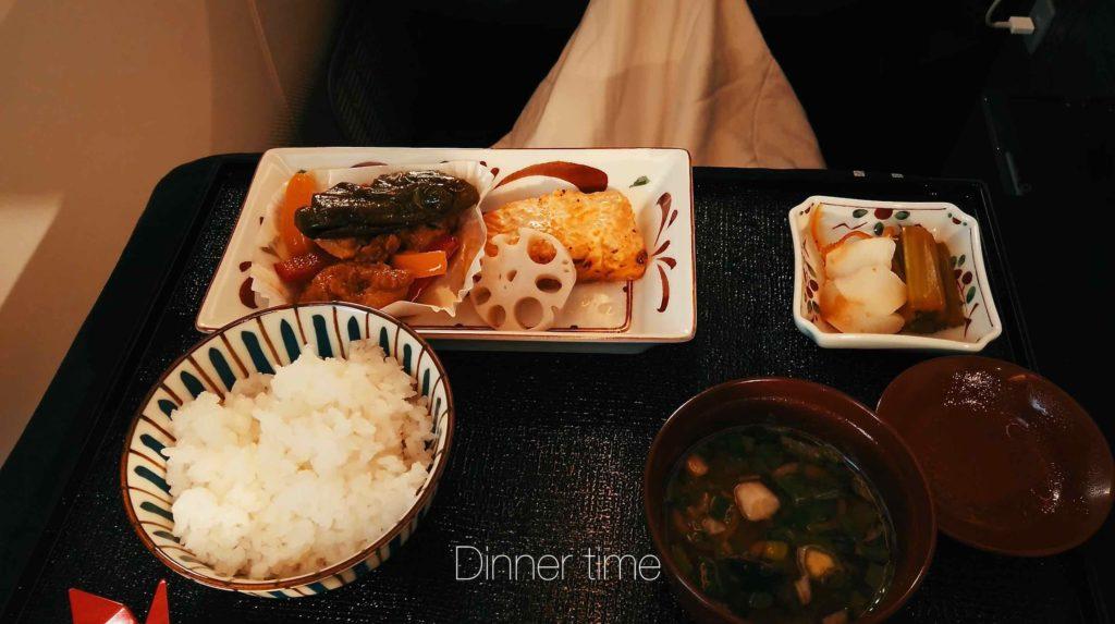 機内食 夕食も和食