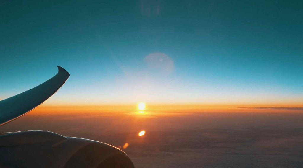 日没後も美しい景色が広がる