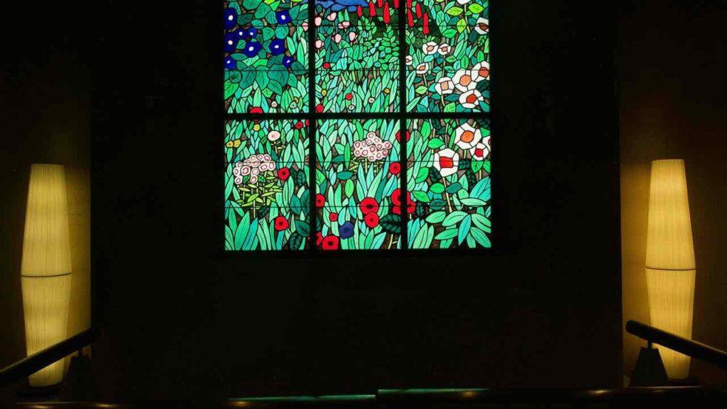品川プリンスホテルのステンドグラス
