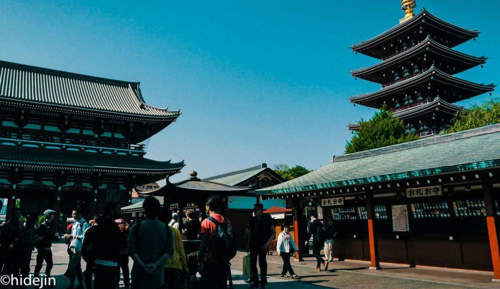 浅草寺 五重塔と宝蔵門