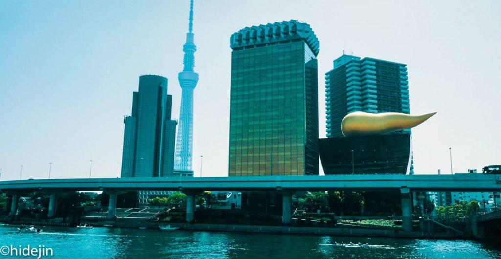 アサヒビール本社と東京スカイツリー