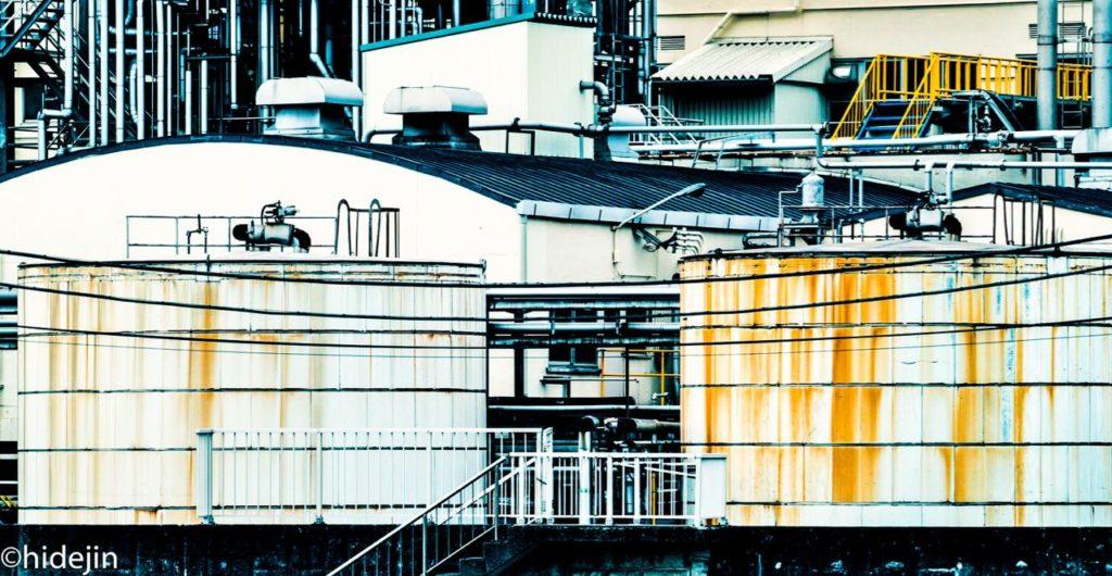 昼間の工場萌え写真