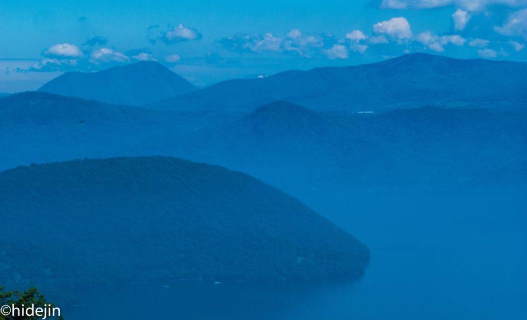 有珠山山頂からの洞爺湖