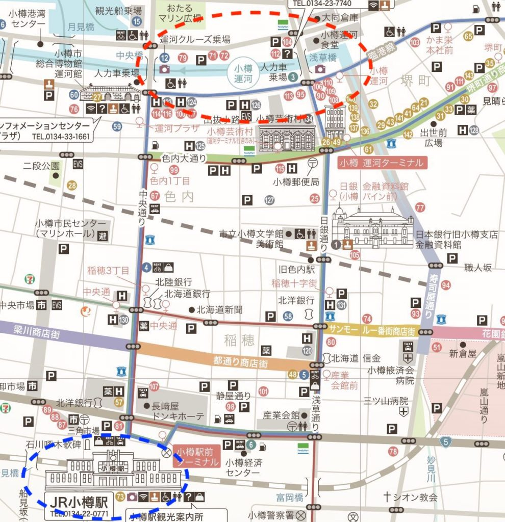 小樽運河へのアクセス