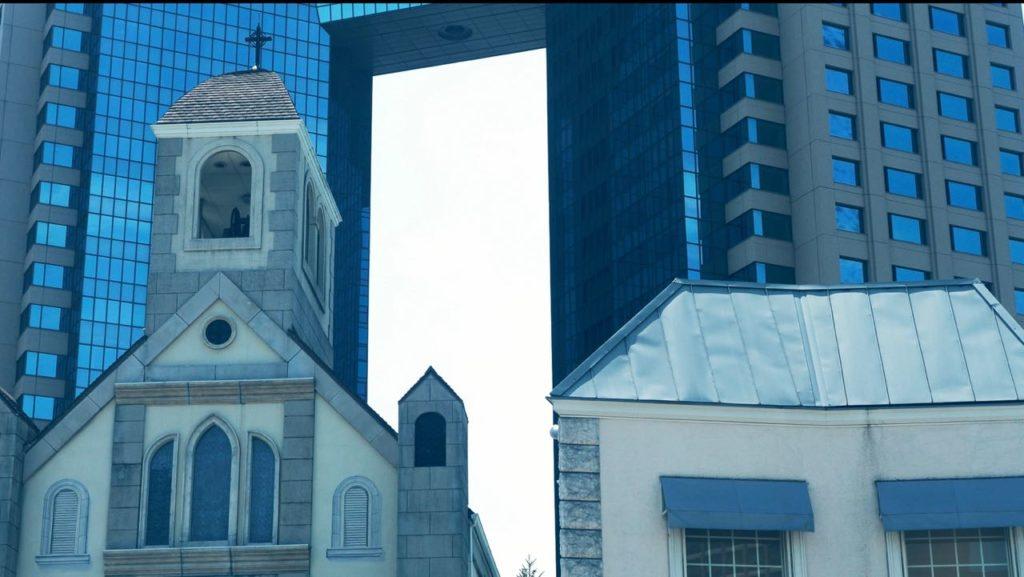 アニヴェルセル東京ベイの中も散歩道