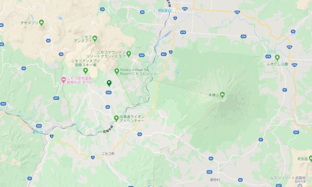 ニセコ 羊蹄山へのアクセス