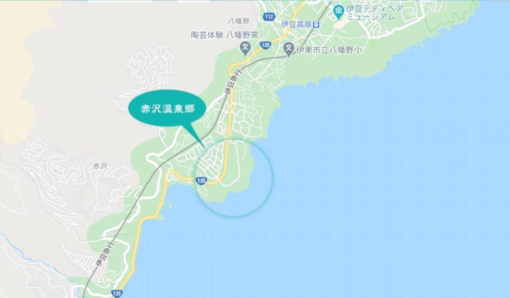 DHC赤沢温泉ホテルへのアクセス