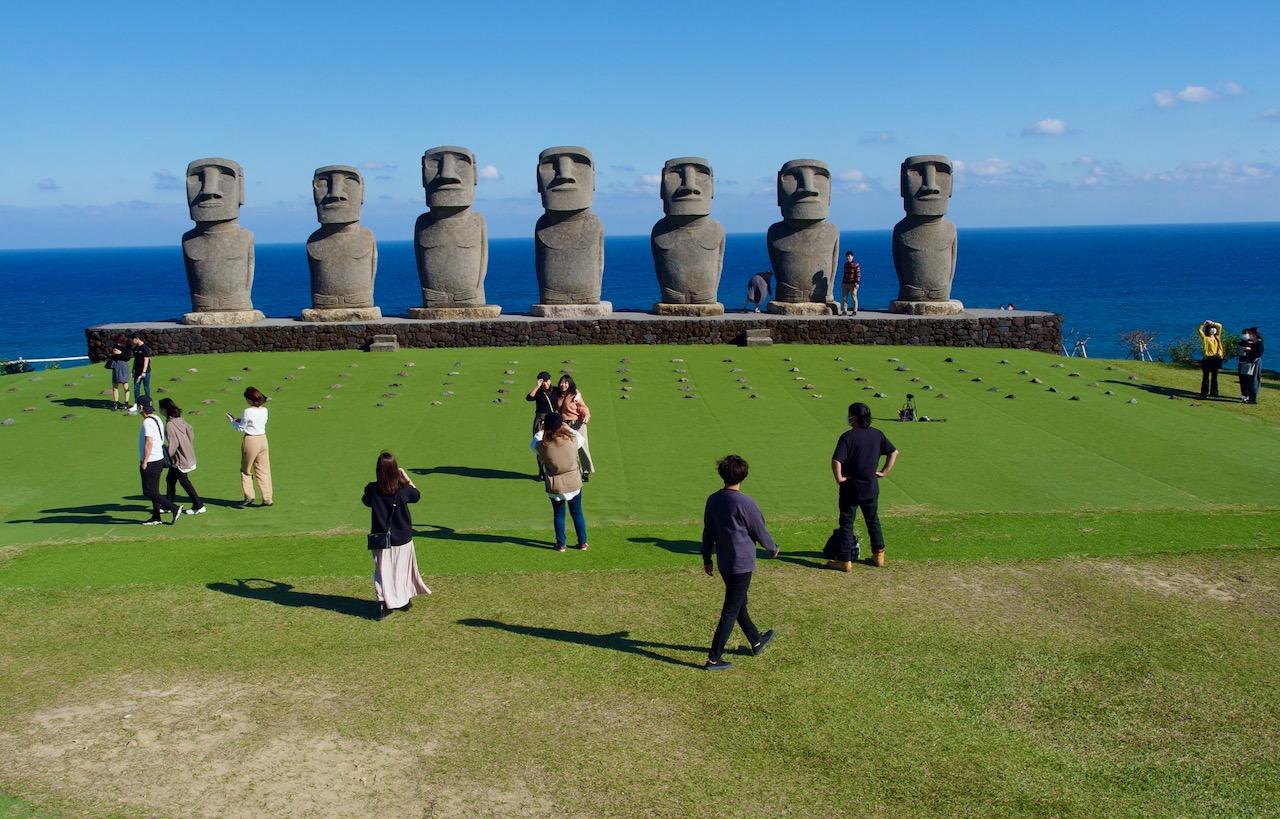 宮崎でモアイを見てきた サンメッセ日南