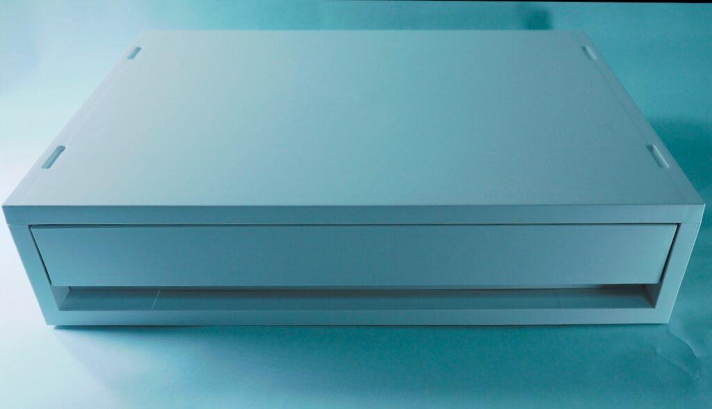 今回購入した無印のアイテム ポリプロピレンケース引出式横ワイド薄型ホワイトグレー