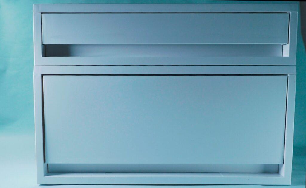 今回購入した無印のアイテム ポリプロピレンケース引出式横ワイド深型ホワイトグレー